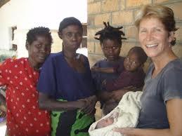 Linda with women